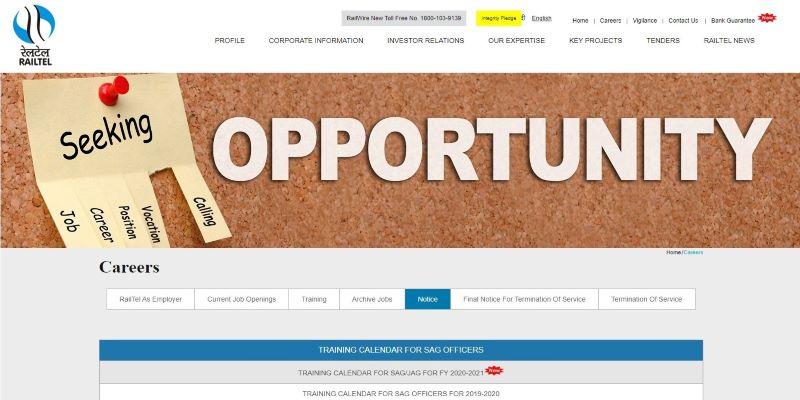 RailTel Recruitment 2021