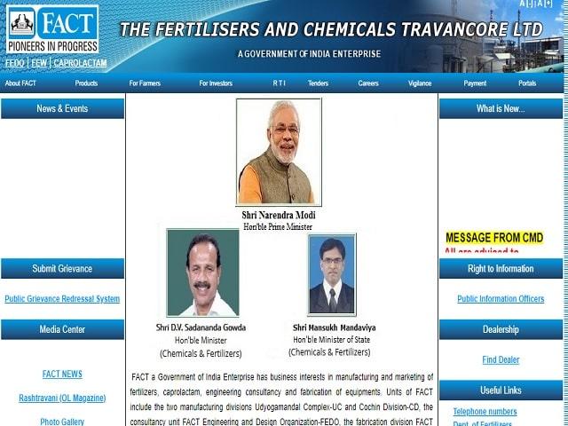 FACT Kerala Recruitment 2021
