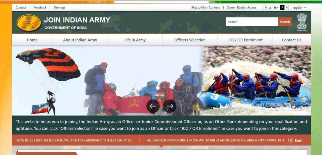 Indian Army SSC Technical Recruitment 2022